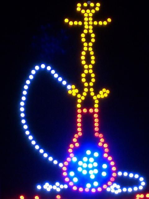 Led Light, Light, Ad, Hookah, Colorful, Color