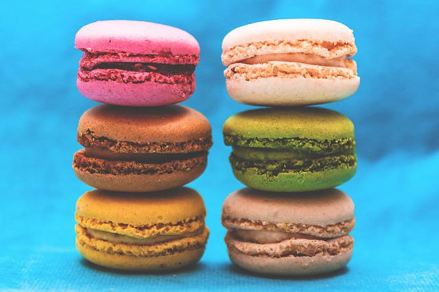 Colorful, Colourful, Dessert, Food, Macaroons, Pastry