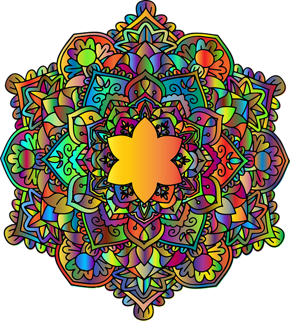 Mandala, Floral, Flower, Abstract, Chromatic, Colorful