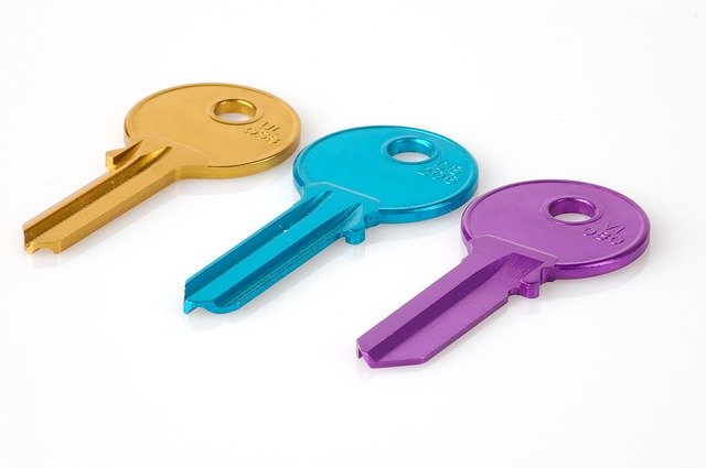 Key, Colorful, Matching, Number, Security, Raw