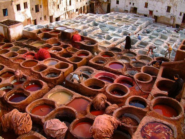 Fez, Tannery, Morocco, Old, Colorful, Moroccan, Leather