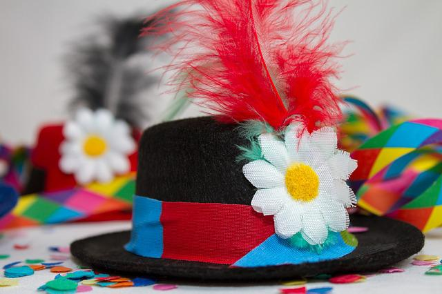 Hat, Carneval, Carnival, Party, Streamer, Colorful