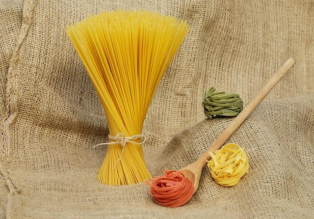 Noodles, Pasta, Yellow, Colorful, Raw, Food