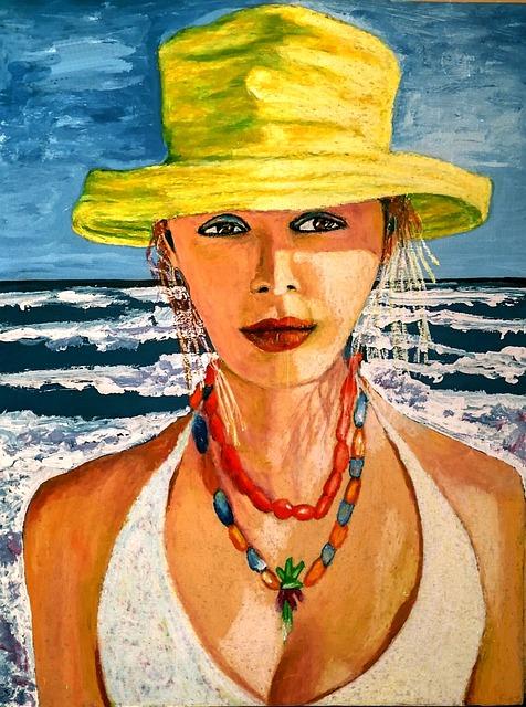 Pastel Woman, Creative, Artist, Colorful