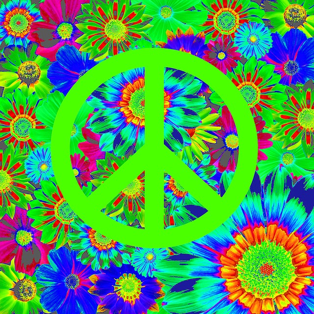 Harmony, Peace, Retro, Colorful, Graphic, Community