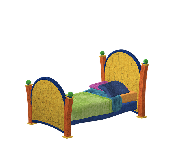 Bed, Wood, Colorful, Sleep, Pillow, Old, Blanket