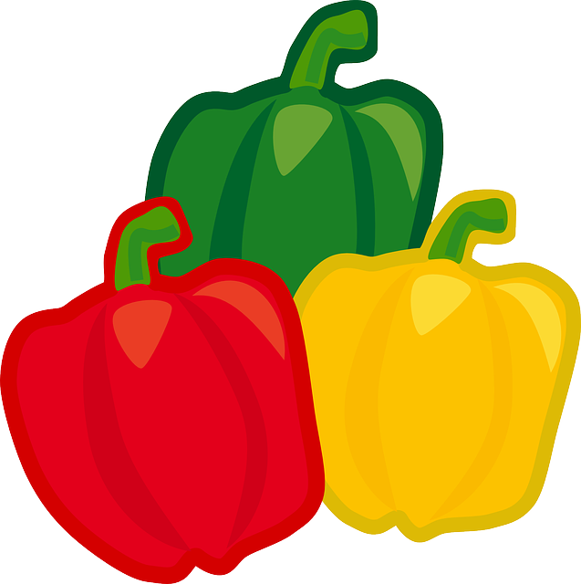 Bell Pepper, Food, Vegetables, Produce, Ripe, Colorful