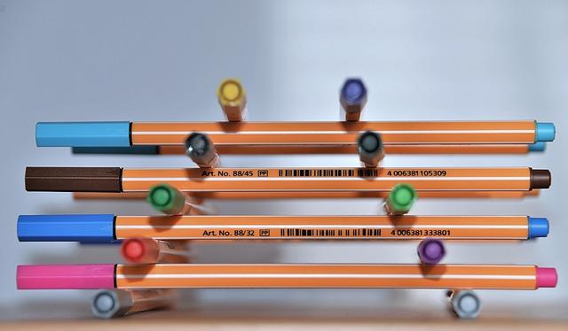 Felt Tip Pens, Colorful, Stack, Pens, Paint