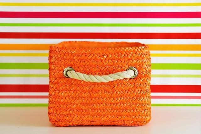 Basket, Orange, Colorful, Storage, Decoration