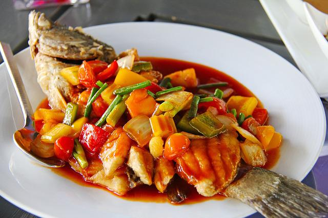 Colorful, Food, Yummy, Delicious, Sweet And Sour, Fish