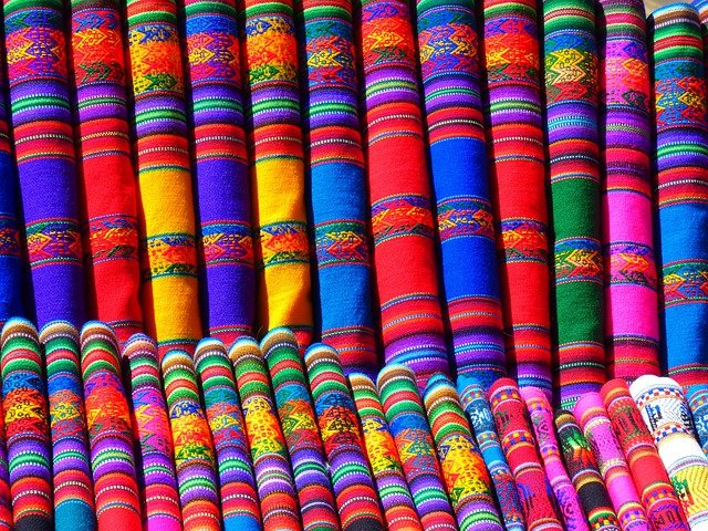 Substances, Colorful, Towels, Scarf, Peru, Mexico