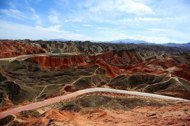 Colorful, Magic, Zhangye, Views, China