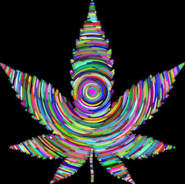 Marijuana, Pot, Weed, Colorful, Prismatic, Chromatic
