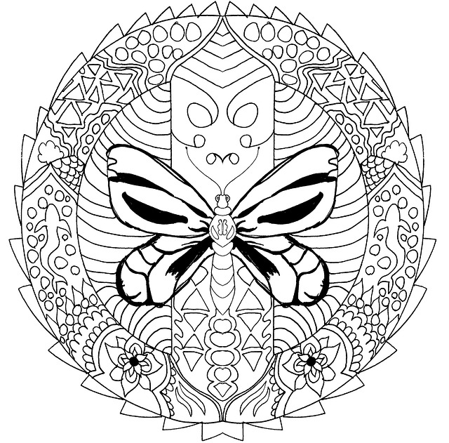 Free Photo Coloring For Adults Mandala Book