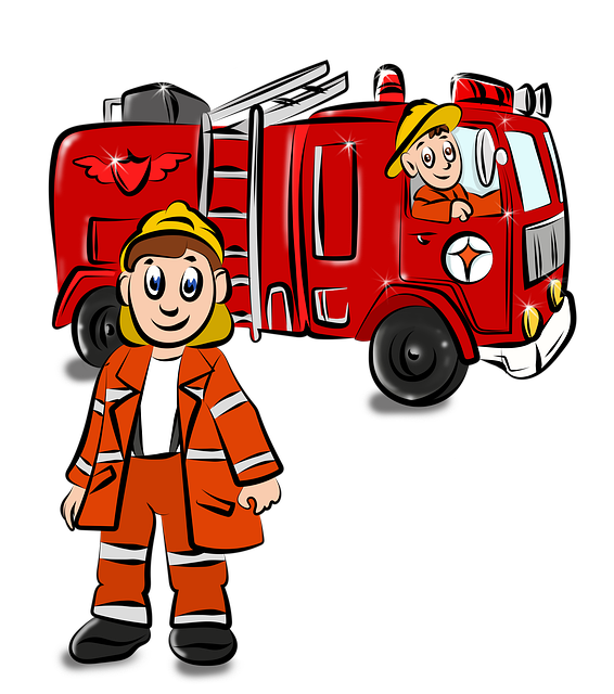 Fire, Drawing, Fire Fighter, Red, Coloring Pages
