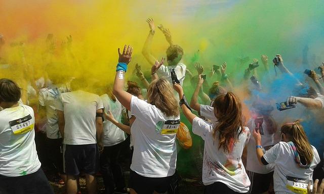 Colorrun Munich 2016, Party, Color