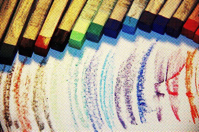 Colors, Chalks, Texture, Pinup, Style, Art, Design