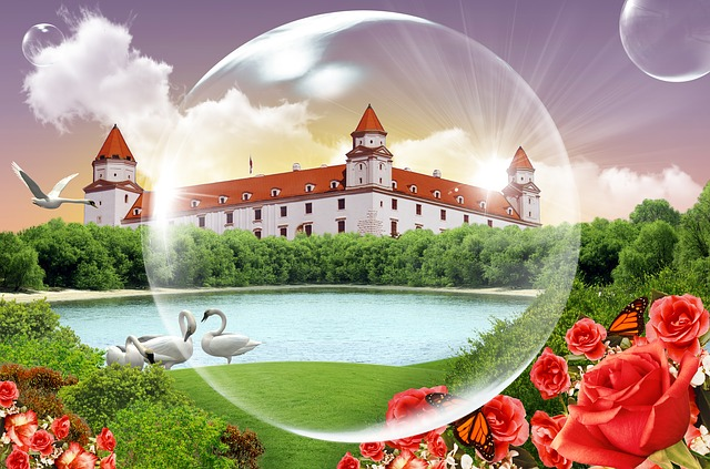 Bratislava, Colors, Graphic, Castle