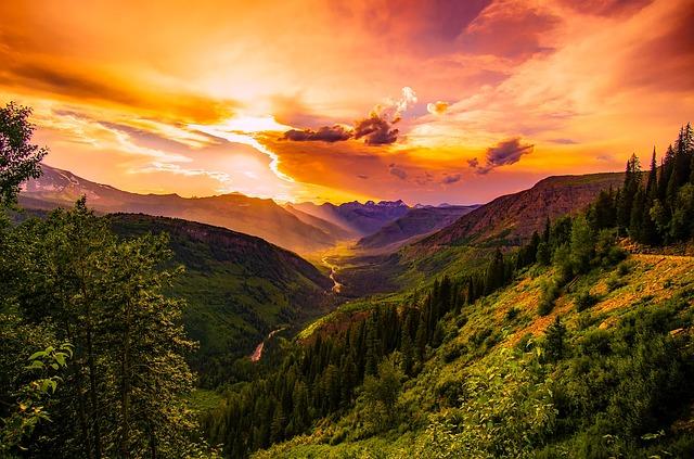 Montana, Sunset, Dusk, Sky, Clouds, Beautiful, Colors