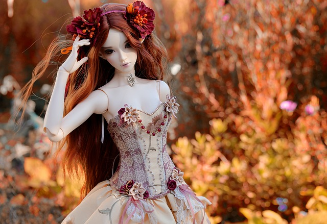 Doll, Dress, Colors, Beautiful, Hairstyle, Female