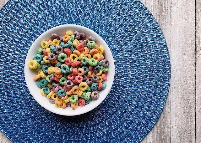 Cereal, Breakfast, Rainbow, Colors, Fruit Loops