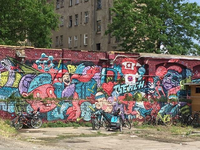 Wall, Berlin, Colors, Graffitti, Gable, Facade