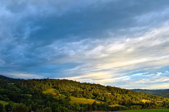 Landscape, Sky, Clouds, Nature, Forest, Green, Colors