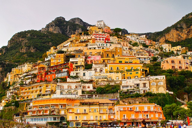 Positano, Italy, Town, Colors, Colorful, Tourism