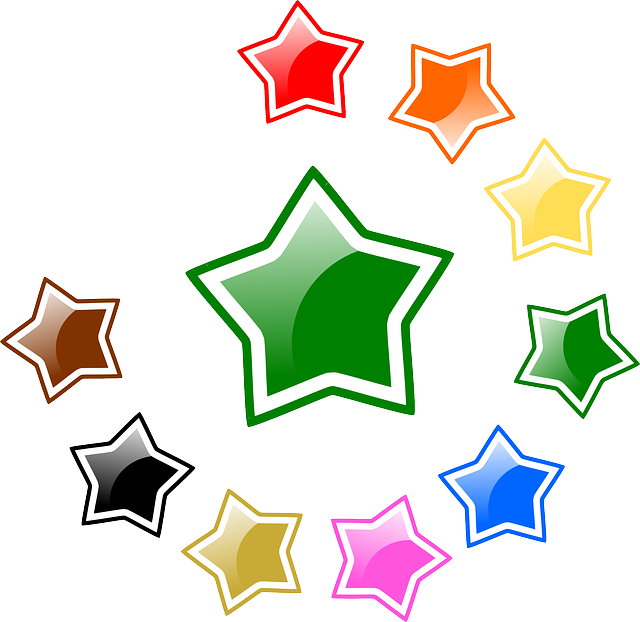 Stars, Glossy, Favorite, Rating, Colors