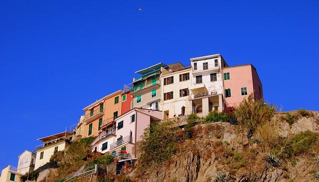 Houses, Colors, Colorful, Rock, Mountain, Manarola