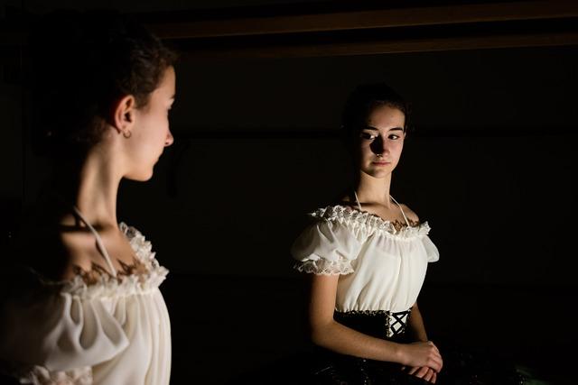 Ballerina, Mirror, Shadows, Colors, Dance, Reflection