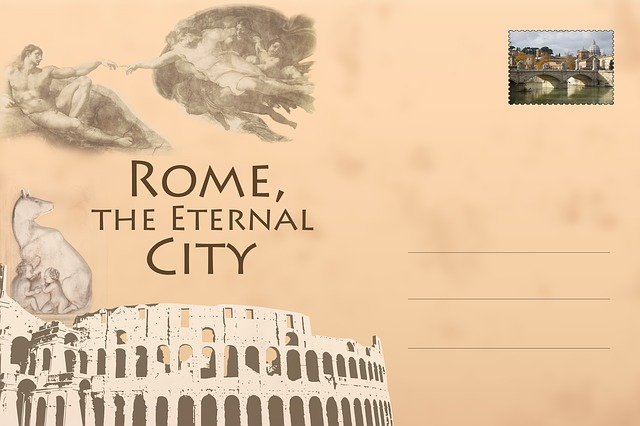 Postcard, Rome, Colosseum, The Eternal City, Vintage