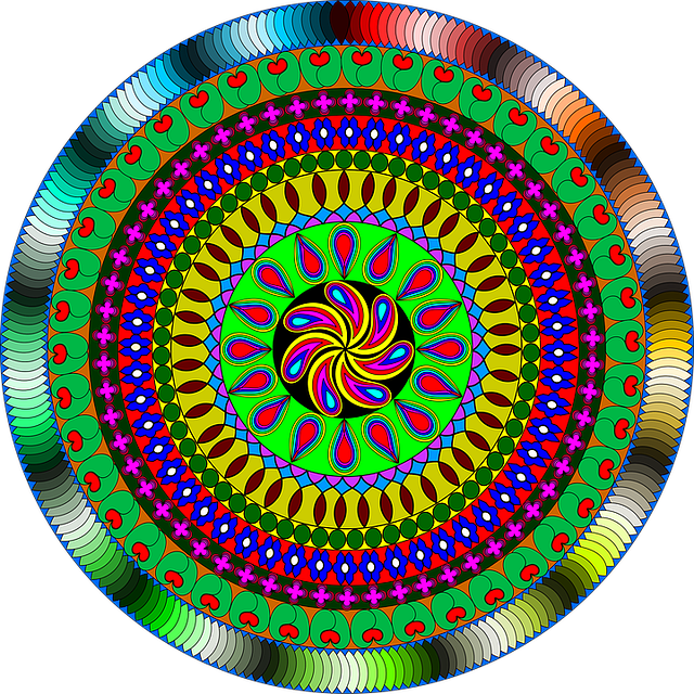 Mandala, Indian, India, Colour, Arts