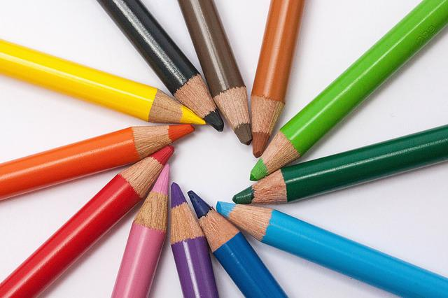 Colored Pencils, Colour Pencils, Star, Color Circle