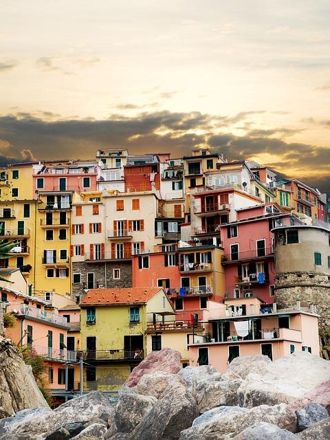 Cinque Terre, Colourful Houses, Manarola, Liguria