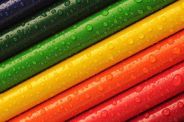 Pencils, Crayons, Colourful, Rainbow, Colours, Bright