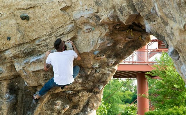 Climbing Wall, Columbus Ohio, Park, Extreme Sports