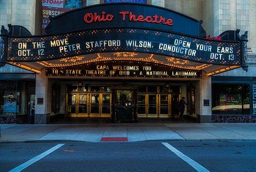 Columbus, Ohio, Ohio Theatre, Theater, Marquee, Front
