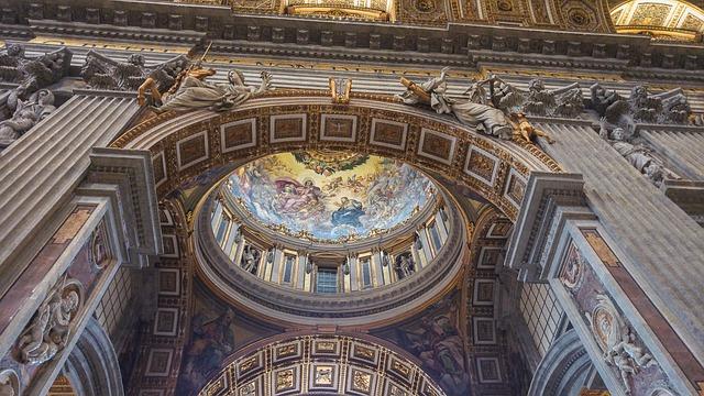 Rome, Vatican, Basilica, Dome, Columns