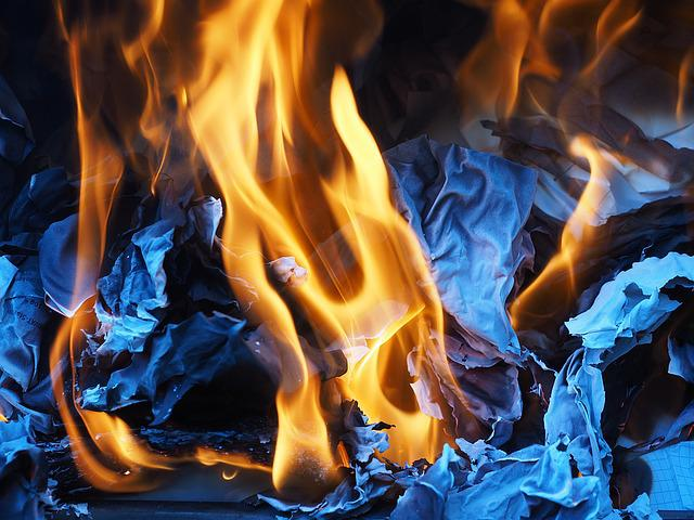 Fire, Combustion, Flame, Ash, Paper Combustion
