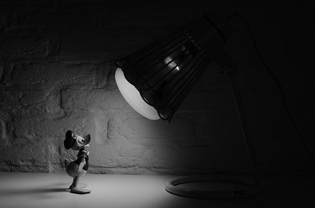 Donald Duck, Spotlight, Comic, Cartoon, Walt Disney