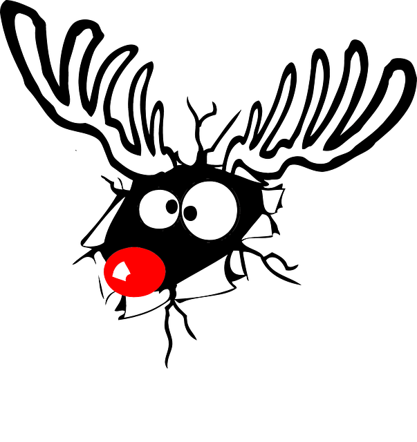Reindeer, Rudolph, Red Nose, Christmas, Deer, Comic