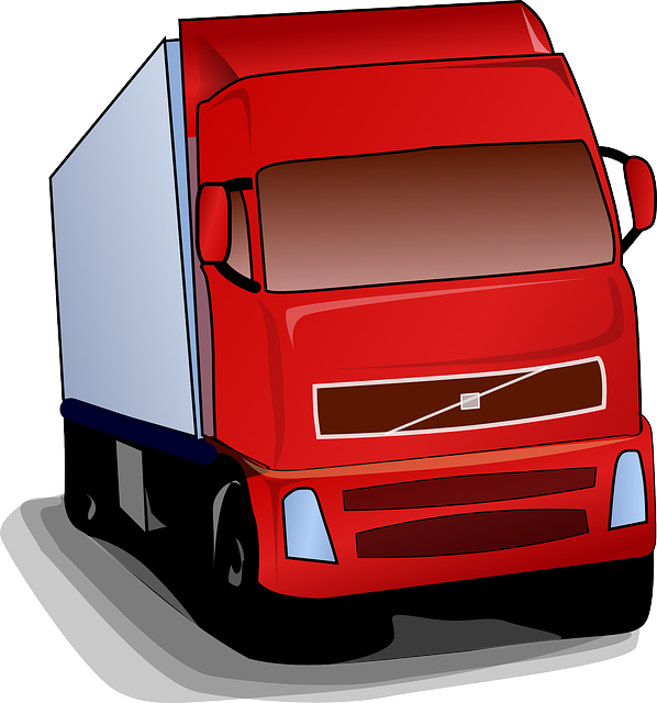 Truck, Lorry, Red, Road, Transportation, Commercial