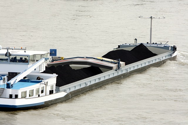 River, Transport, Shipping, Barge, Carbon, Commodity