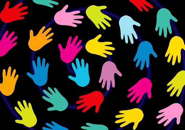 Hands, Background, Black, Colorful, Communication