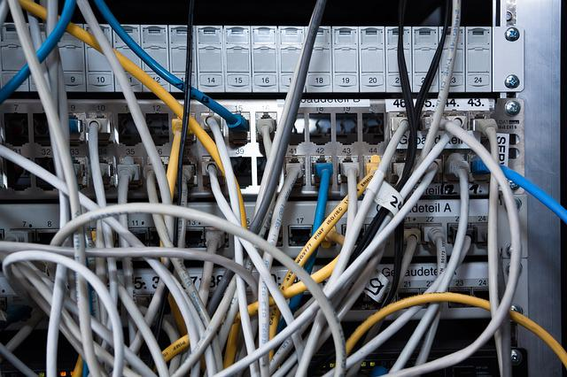 Cable, Computer, Rack, Data Exchange, Communication