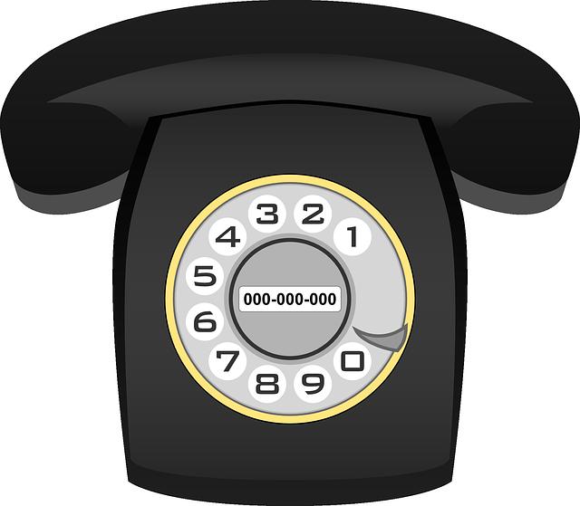 Phone, Telephone, Communication, Technology, Old, Black
