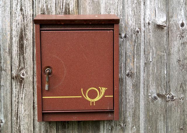 Mailbox, Letter Boxes, Post, Post Horn, Communication