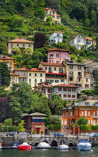 Lake, Como, Northern, Italy, Luxury, Houses