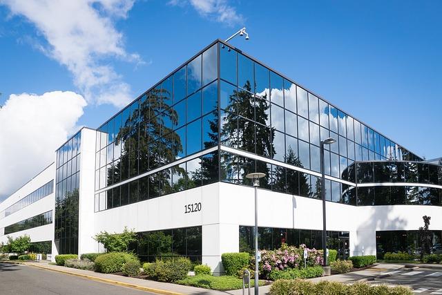Building, Glass, Sky, Blue, Microsoft, Company